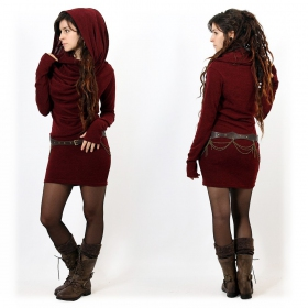 """Kali"" sweater dress, Wine"
