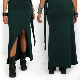 """Naïade"" skirt, Peacock teal"