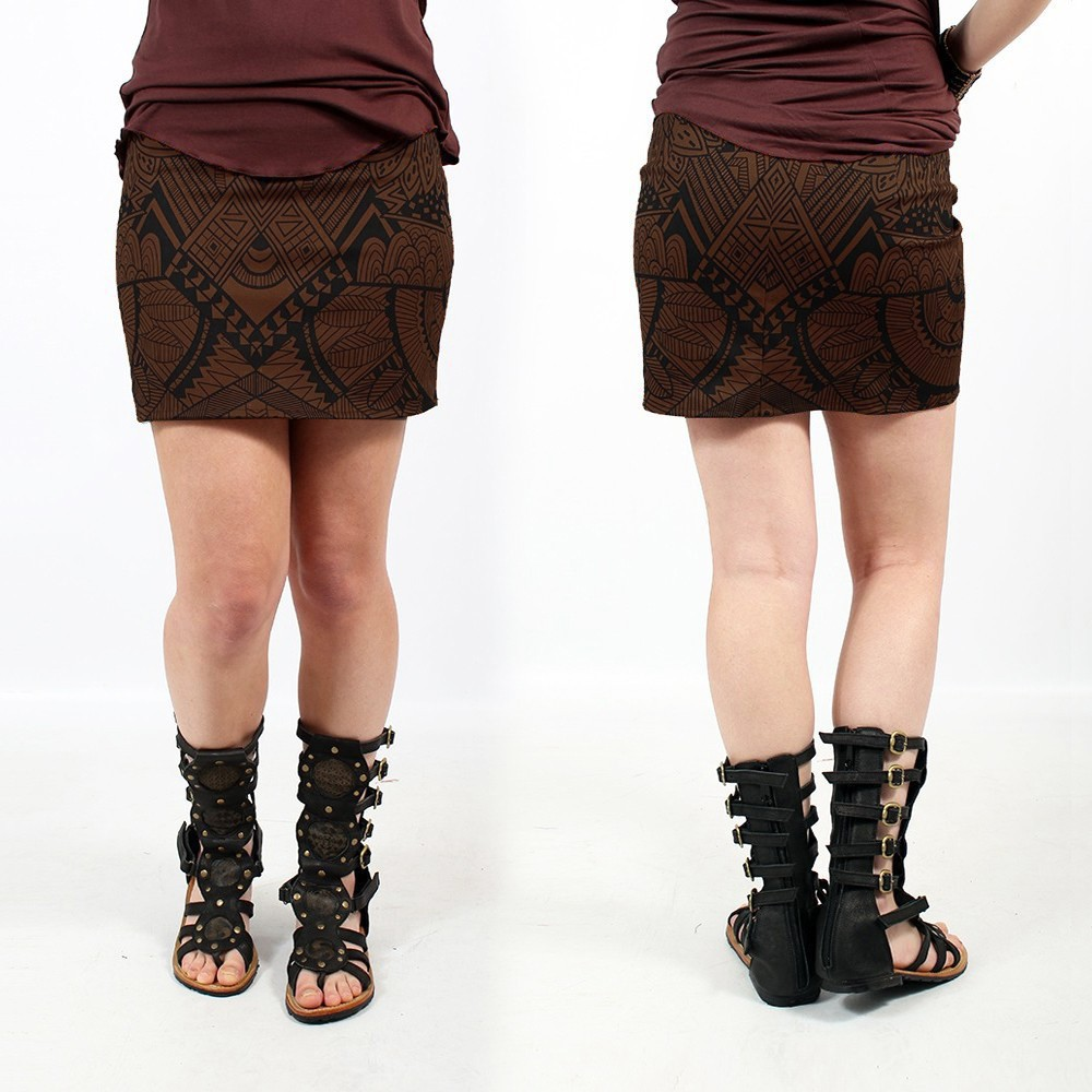 """Ishtar Africa"" skirt, Brown"