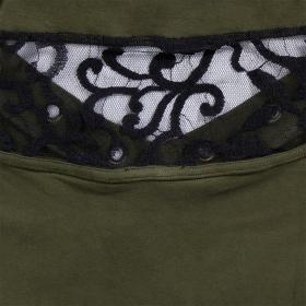 """Ring"" dress, Khaki green"