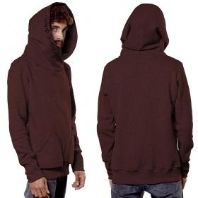 """""""Reaper"""" hoodie, Mottled wine"""