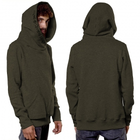 """Reaper"" hoodie, Mottled khaki green"