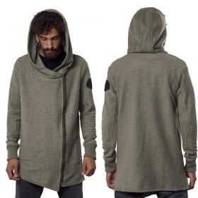 """""""Token"""" zipped sweater, Dark beige"""