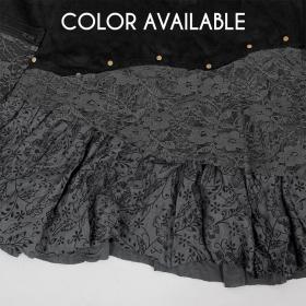 """Chimey"" skirt, Black and grey"