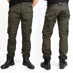 """Alternative"" pants, Dark khaki green"