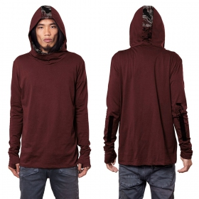 """Kusary"" long sleeved shirt, Wine"