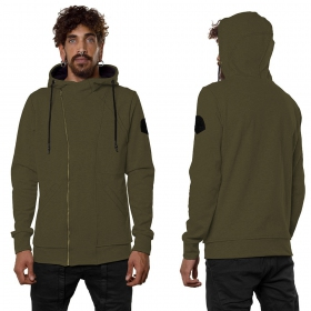 """PF02"" zipped jacket, Khaki green"