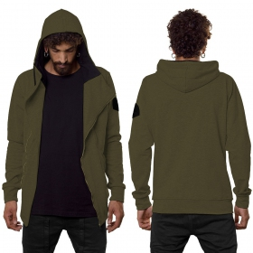 """PF02"" zipped jacket, Khaki green"