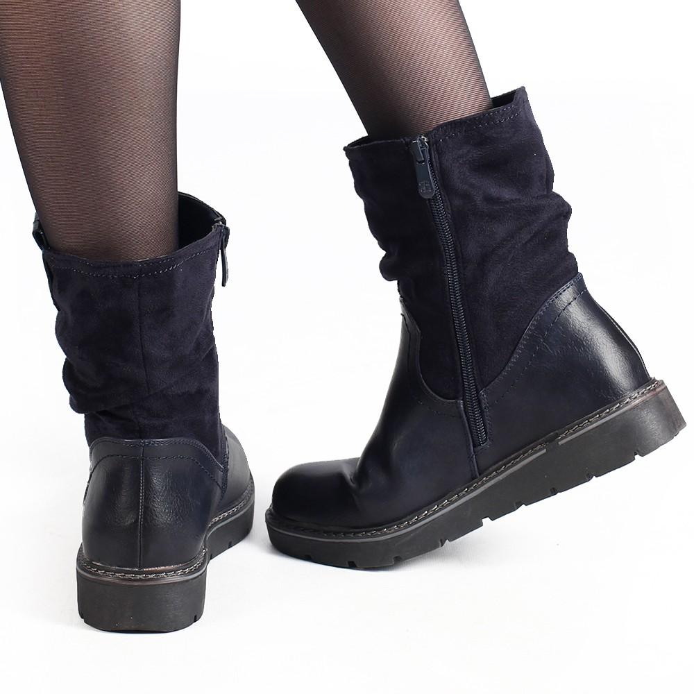 """Anéa"" Boots, Bluish black"