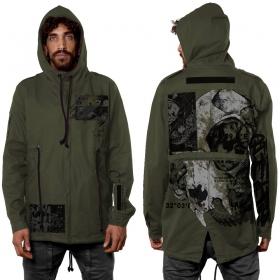 """""""Sculter"""" zipped jacket, Khaki green"""