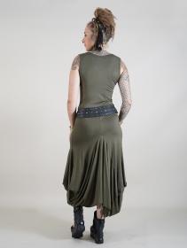 """Ezra"" sleeveless long dress, Army green"
