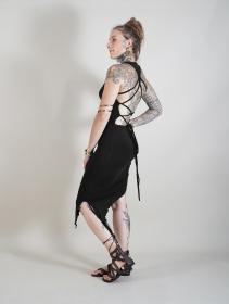 """Deepti"" asymmetric dress, Black"
