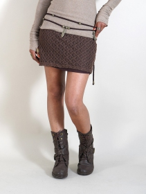 """Ayüuki"" crochet skirt, Brown"