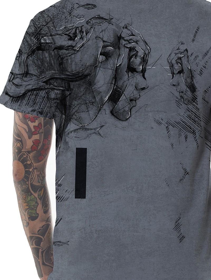 """""""Atlantis"""" t-shirt, Wash grey"""