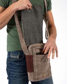 """Rukum"" shoulder bag, Sand hemp and cotton"