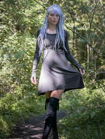"""Ysïaa"" long sleeve dress, Charcoal"