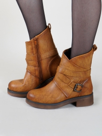 """Hafsana"" ankle boots, Camel brown"