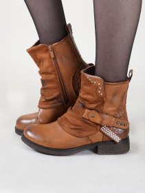 """Rajani"" boots, Camel brown"