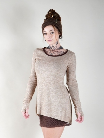"""Bohemian"" tunic pullover, Beige"