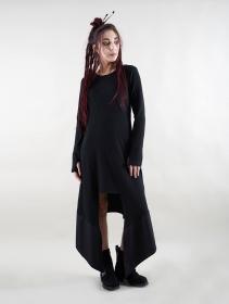 """Anat"" long sleeve long dress, Black"