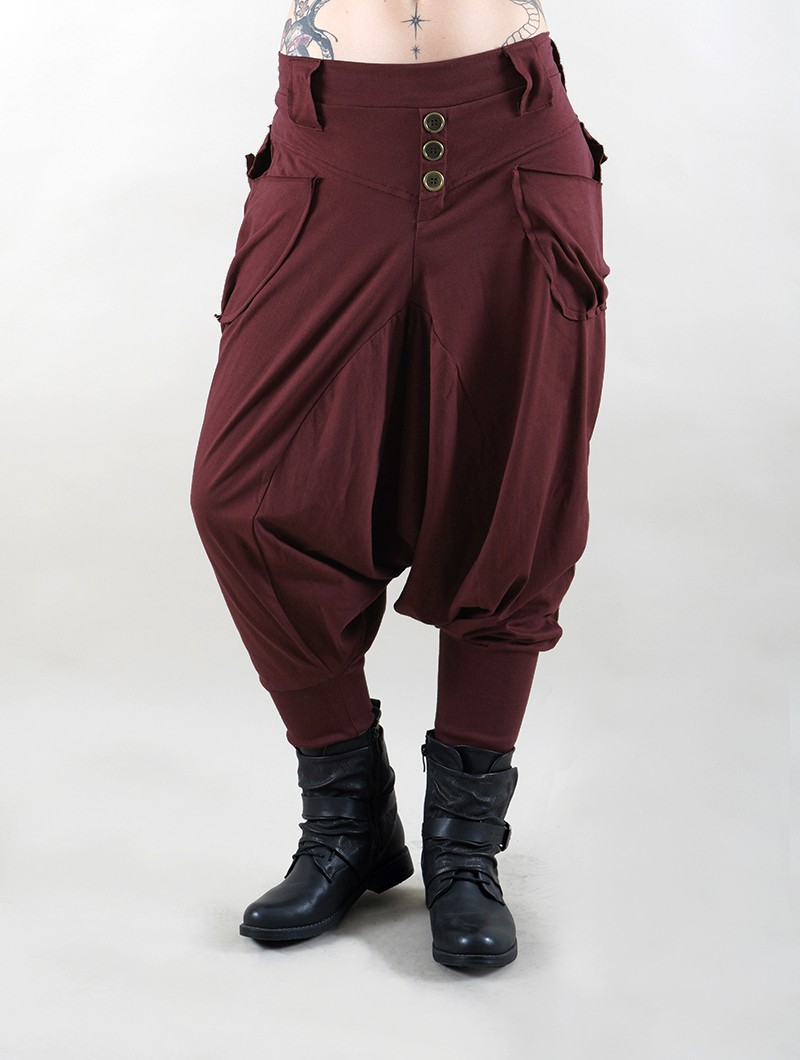 """Amira"" Harem pants, Burgundy wine"