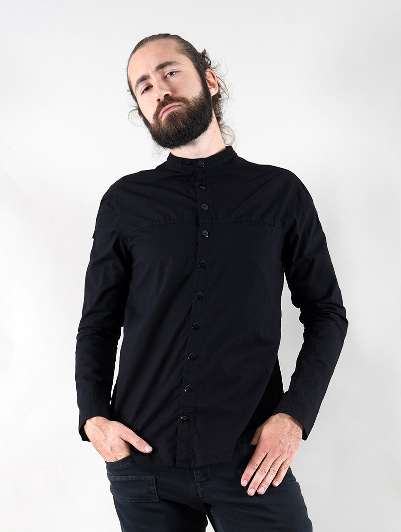 """Herendil"" long sleeve shirt, Black"
