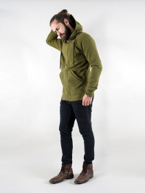 """PF02"" zipped jacket, Army green"