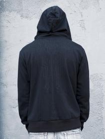 """Aegnor Circuit"" zipped hoodie, Black"