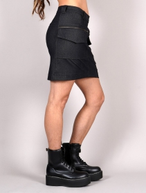 """Nienor"" cargo skirt, Denim black"