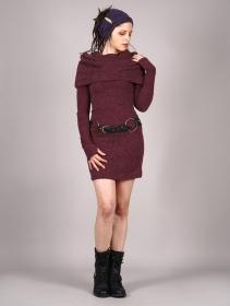 """Mantra"" sweater dress, Wine"