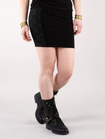 """""""Krios Lame"""" middle skirt, Black"""