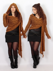 """Danaeriz"" crochet shawl, Rusty"