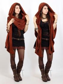 """Danae"" hooded cape, Sienna"
