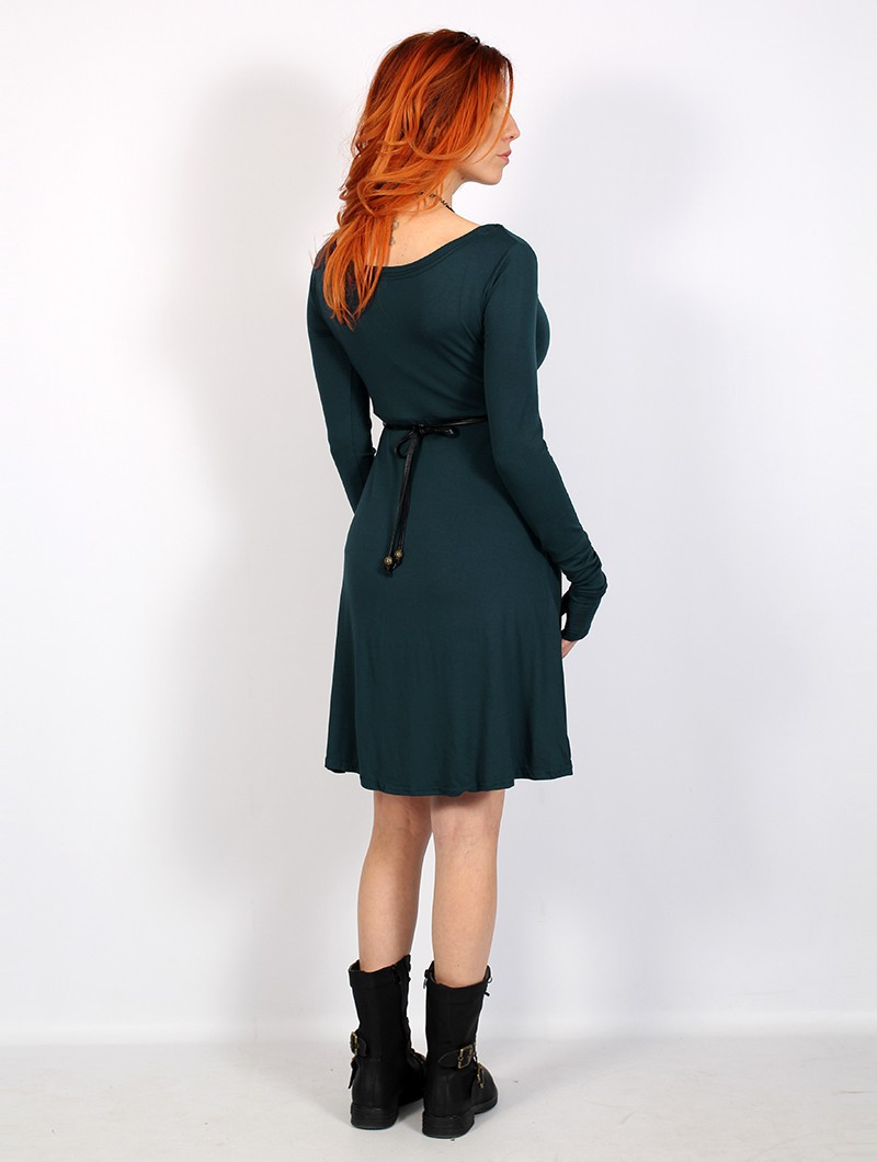 """Ysïaa"" long sleeve dress, Dark Teal"