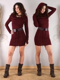 """Kali"" sweater dress, Wine"