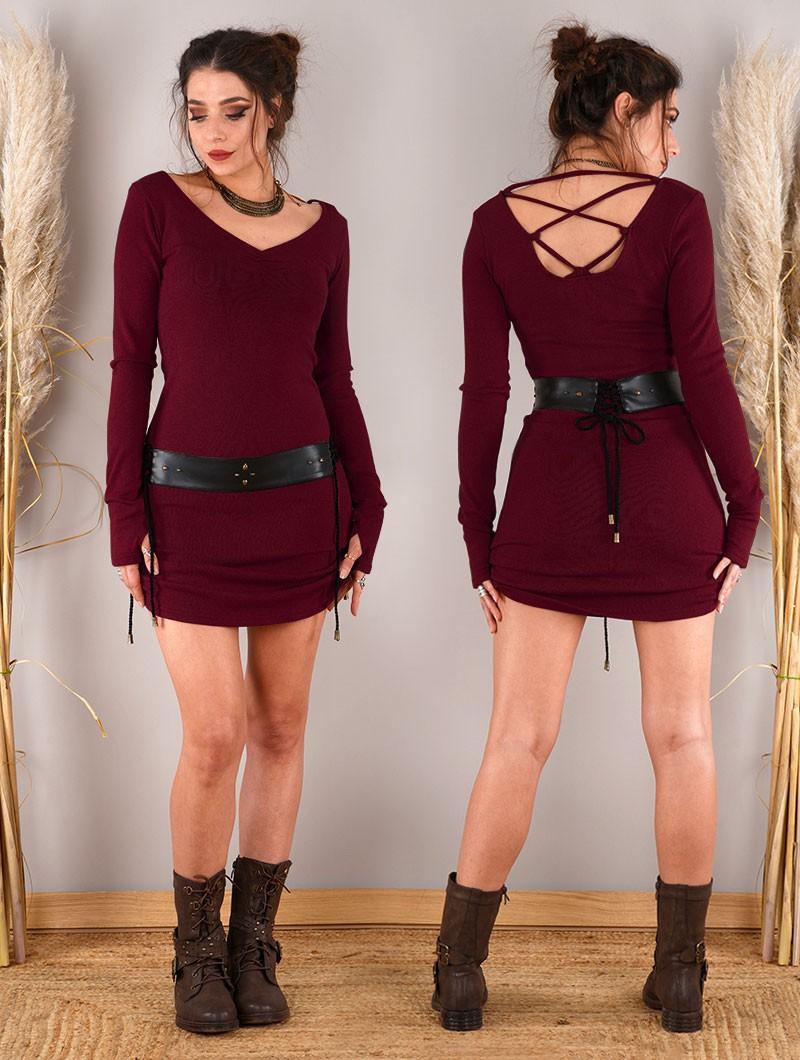 """Nikkäa"" sweater dress, Wine"