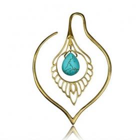 \\\'\\\'Paanee Turquoise\\\'\\\' ear jewel