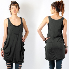 \\\'\\\'Palani\\\'\\\' sleeveless tunic, , Dark grey