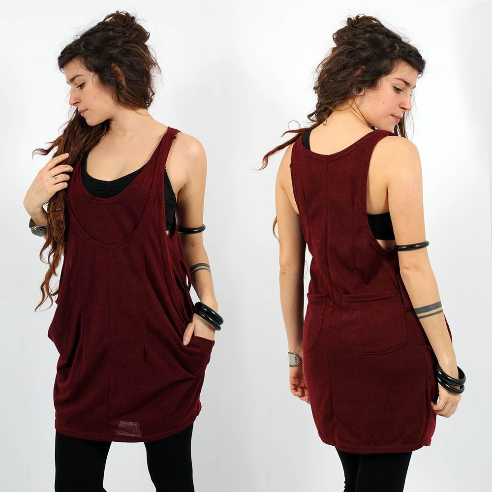 \'\'Palani\'\' sleeveless tunic,  Wine