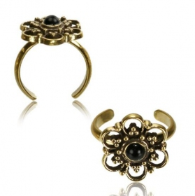\'\'Phool Onyx\'\' toe ring