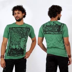 \\\'\\\'Sanskrit Buddha\\\'\\\' t-shirt, Mint