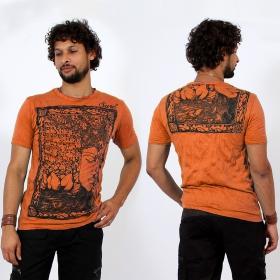 \\\'\\\'Sanskrit Buddha\\\'\\\' t-shirt, Orange