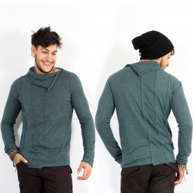 \\\'\\\'Tilted\\\'\\\' sweater, Teal