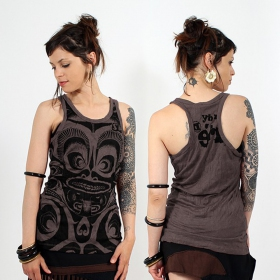 \\\'\\\'Tribal\\\'\\\' tank top, Dark purple