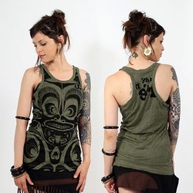 \\\'\\\'Tribal\\\'\\\' tank top, Khaki