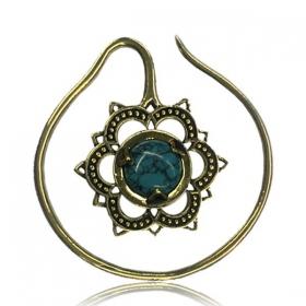 \'\'Turquoise Labangalata\'\' ear jewel