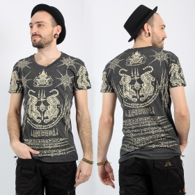 \'\'Twin Tiger\'\' t-shirt, Dark grey