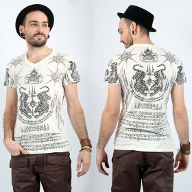 \'\'Twin Tiger\'\' t-shirt, White