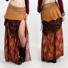 \'\'Utopia\'\' skirt, Camel with pattern