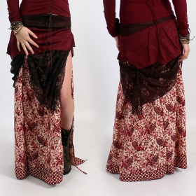 \'\'Utopia\'\' skirt, Deepred with patterns
